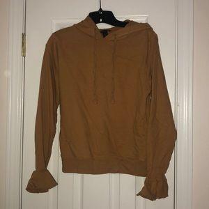 (JCrew) ruffle sleeved hoodie